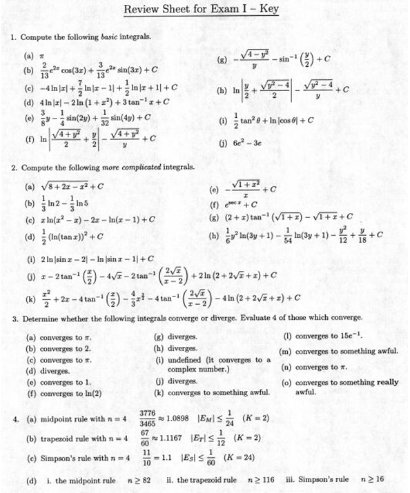 Math 250 Calculus II